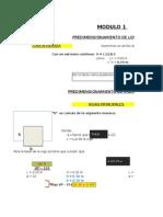 Excel Predimensionamiento Modulo 3