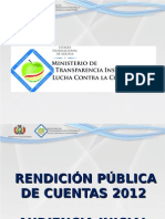 Rendicion Publica de Cuentas