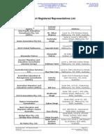 Registered Representatives List v.48