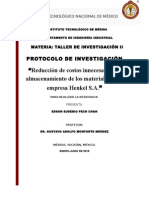 Almacenamiento Protocolo de Investigacion