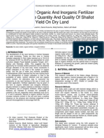 Application of Organic and Inorganic Fertilizer Improving the Quantity and Quality of Shallot Yield on Dry Land