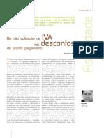 Aplicação de IVA nos descontos de pronto pagamento