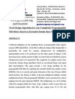 Novel Design Algorithm for Low Complexity Programmable FIR Filters Based on Extended Double Base Number System