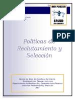 Politicas de seleccion de personal
