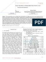 Literature Review on Efficient Algorithms for Mining High Utility Itemsets From Transactional Databases