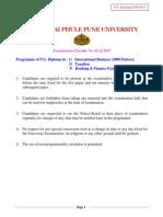 PG Diploma International Business Taxation Banking Finance