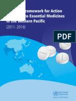 Regional Framework Action Essential Medicines