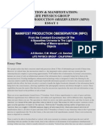 Essay 1 - Creation & Manifestation-life Physics Group Manifest Production Observation (Mpo)