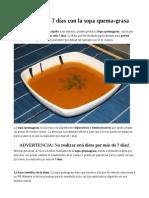 Baja 8 Kilos en 7 Días Con La Sopa Quema-grasa