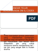 Standar Telur Berdasarkan Sni & Codex