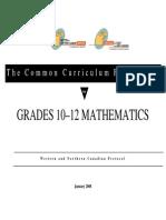 Math 10 to 12