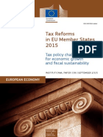 ECFIN Tax Reforms in EU Member States 2015 – Tax Policy Challenges for Economic Growth and Fiscal Sustainability