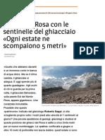 Sul Monte Rosa con le sentinelle del ghiacciaio - Avvenire del 28 settembre 2015
