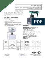 HW Series Datasheet( 120 VAC veya 240 Vac panel besleme için)