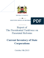 Current Inventory of State Corporations 9th Oct 2013