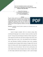 FAKTOR YANG MEMPENGARUHI AUDIT DELAY Studi Kasus Pada Perusahaan Manufaktur Yang Terdaftar Di Bursa Efek Indonesia Tahun 2011 2012