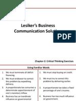 Lesiker's Business Communication Solution 1