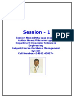DBMS SESSION PLANS