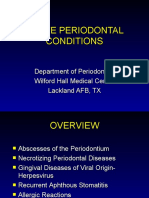 Acute Periodontal Conditions