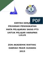 Kertas Kerja Program Peningkatan Mata Pelajaran Sains Pt3 2015 z a r