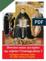 Saint Thomas et l'Immigration