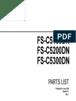 Parts List FS-C5100-C5200-C5300