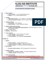 Mathematics Reference Books