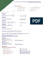 Actividades de ecuaciones y sistemas resueltas