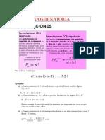 Formulas Combinatoria