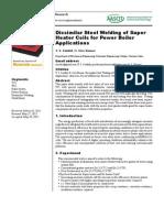 Dissimilar steel welding