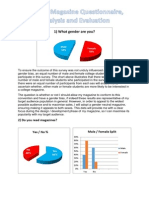Questionnaire Data Analysis & Evaluation