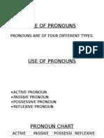 Use of Pronouns