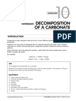 Decomposition of a Carbonate