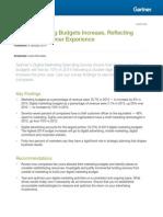 Gartner Digital Marketing Budget Study