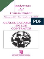 Cláusulas Abusivas en Los Contratos. Cuadernos_consumidor_30