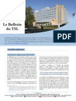 Bulletin du TSL- Aout 2015