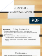 Chapter 8-Policy Evaluation