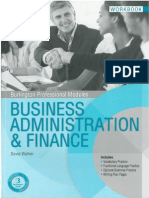 Business Administration Finance Work Book