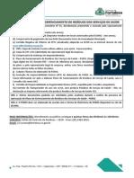 Check List - Plano de Gerenciamento de Residuos Dos Servicos de Saude