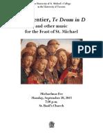 St. Mike's Schola and MIO Michaelmas 2015