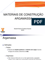 Materiais de Construção - Argamassas