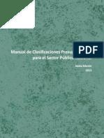 Manual de Clasificaciones Presupuestarias para el Sector Público Nacional