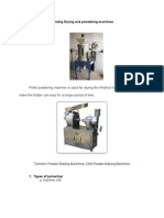 Existing Drying and Powdering Machines