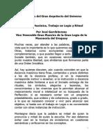 a Jose Garchitorena - _La instrucción masónica, el Trabajo en Logia y el Ritual_