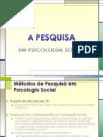 A Pesquisa Em Psicologia Social
