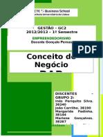 Relatório Inicial_Desenvolvimento do Conceito de Negócio