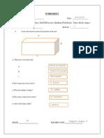 Worksheet for Class IV - Maths