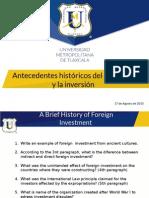 Antecedentes Históricos Del Comercio y La Inversión