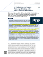Incidence, Predictors, and Impact of Post-Discharge Bleeding After Percutaneous Coronary Intervention