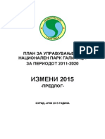 Amendments to Park Management Plan 2015 MKD